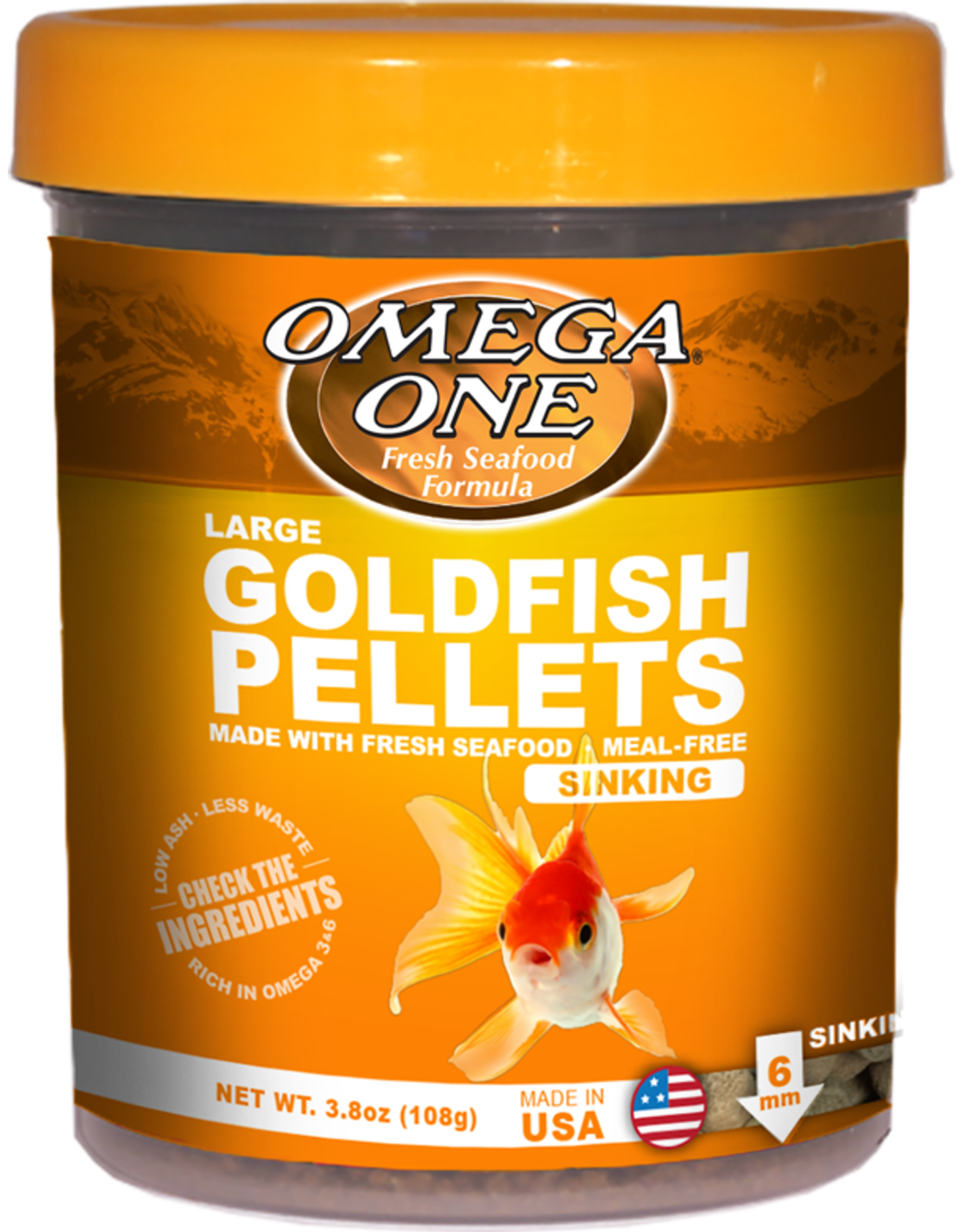 Omega One Food OMEGA ONE Goldfish Pellets Large