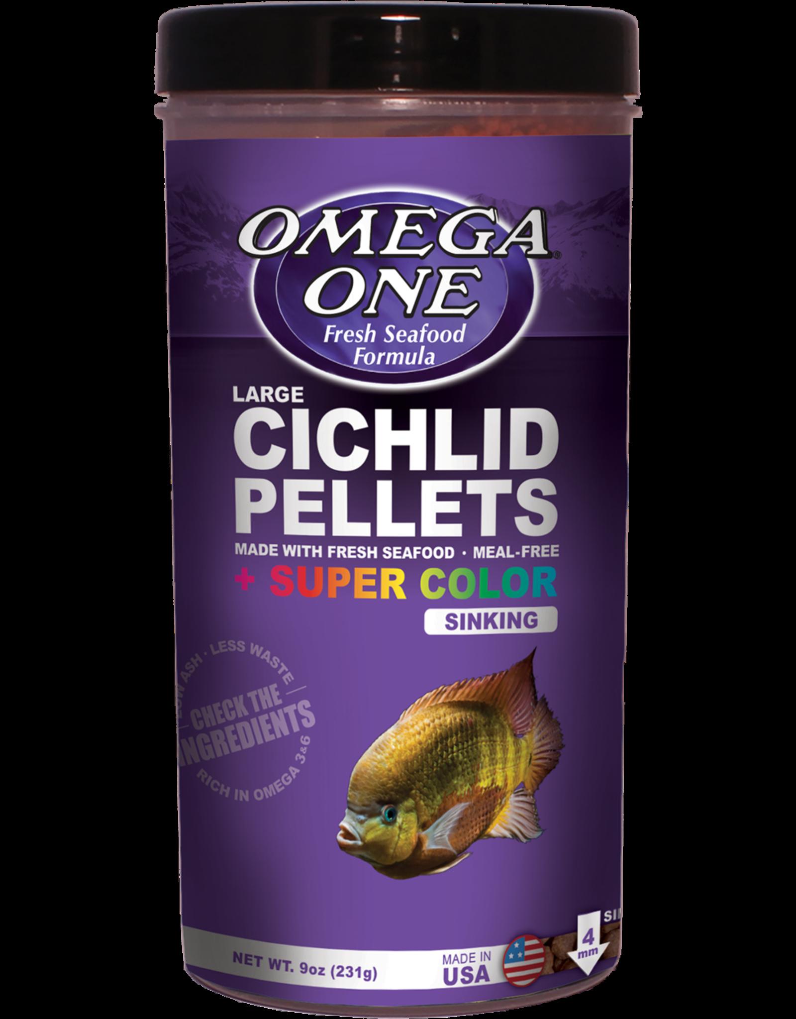 Omega One Food OMEGA ONE Large Cichlid Pellets Sinking 9oz