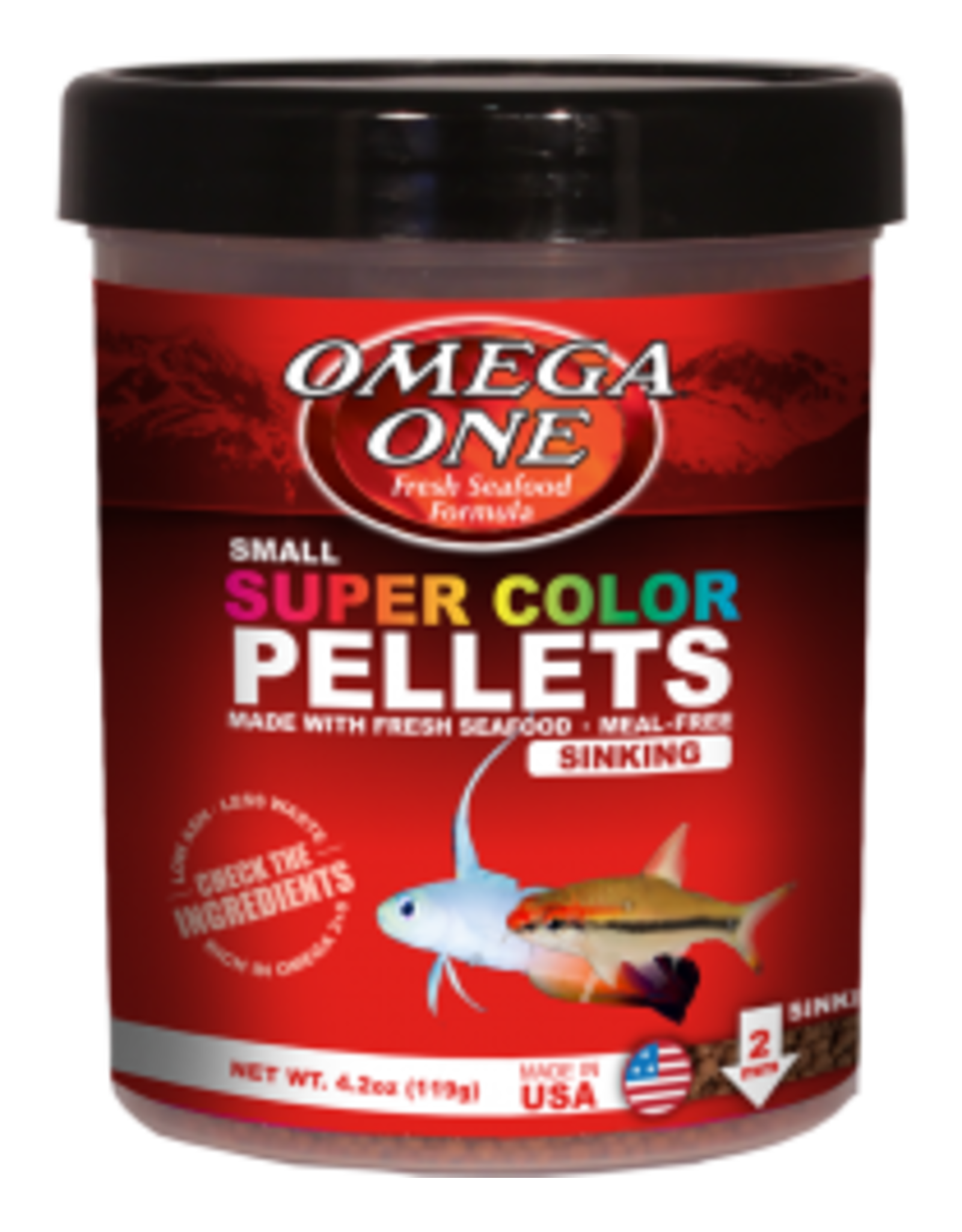 Omega One Food OMEGA ONE Super Colour Small  Sinking Pellets