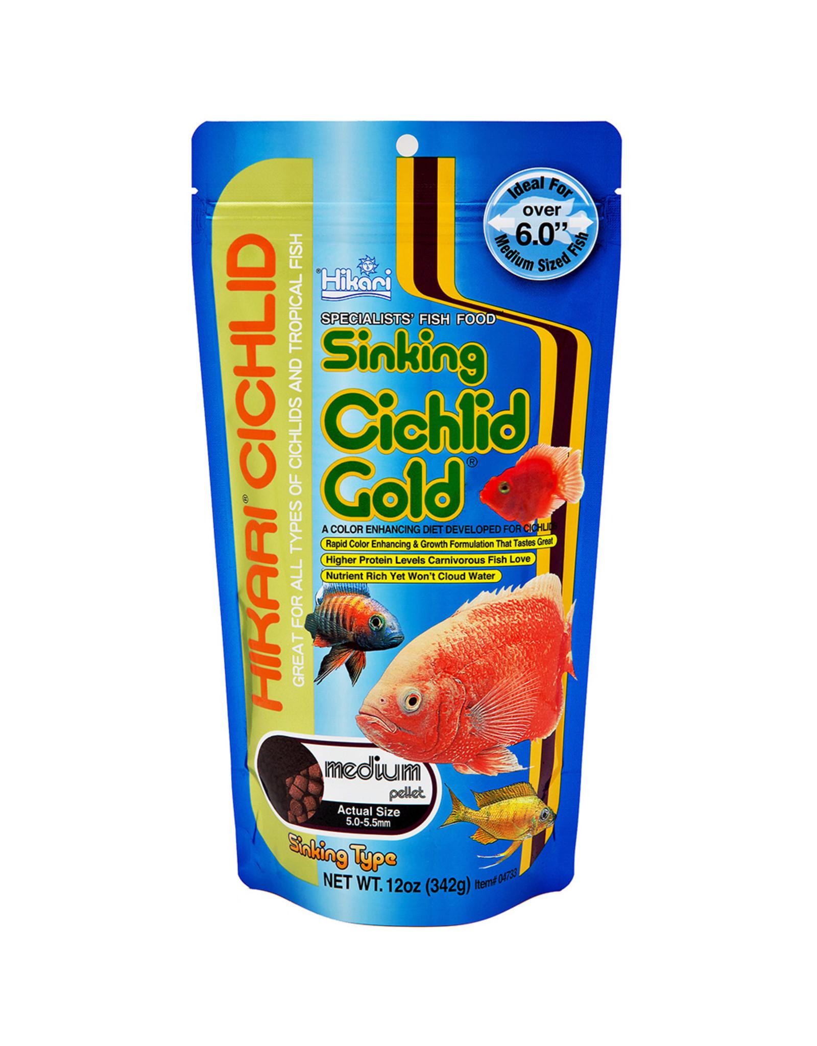 Hikari Sales USA, Inc. HIKARI Cichlid Gold Sinking Pellet 12oz