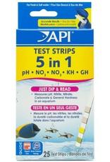 API Products API 5 in 1 Aquarium Test Strips 25 Pack