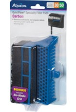 Aqueon AQUEON Specialty Filter Pad Carbon Cartridge w/ Biomedia grid Quietflow 30/50