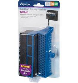 Aqueon AQUEON Specialty Filter Pad Carbon Cartridge w/ Biomedia grid Quietflow 30/50