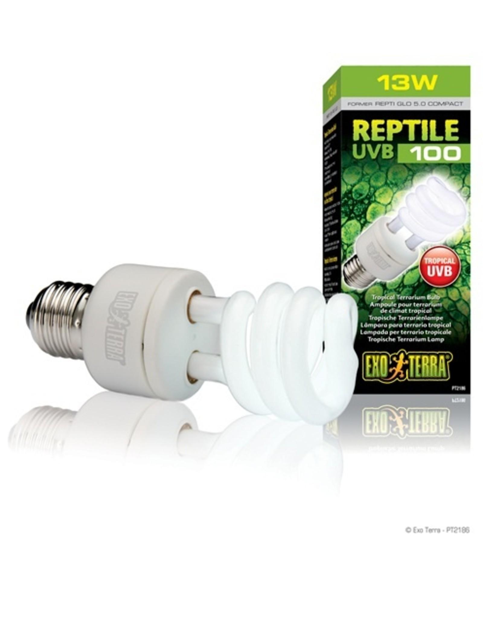 Exo Terra EXO TERRA UVB 100 Tropical Terrerium Bulb 110V