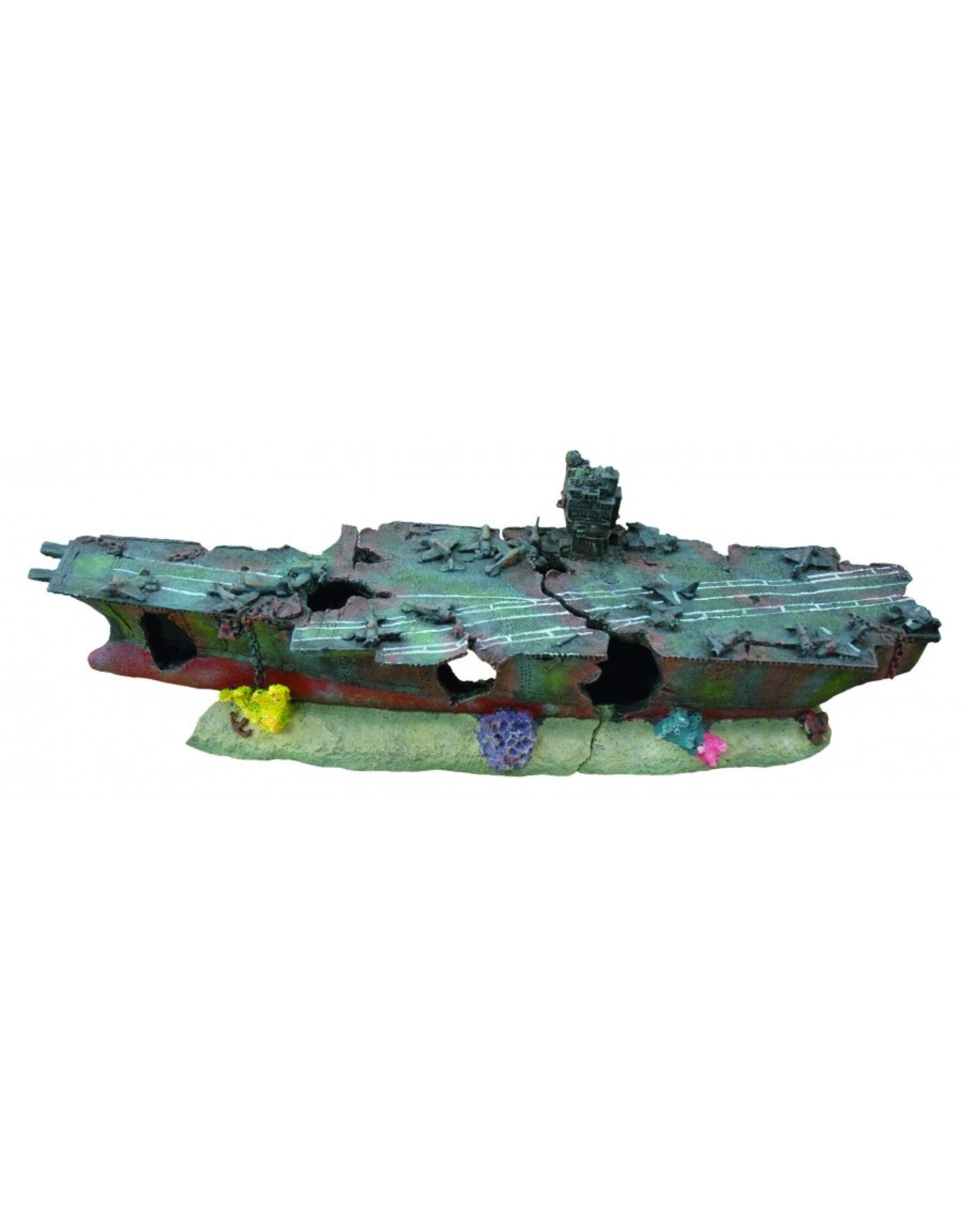 """Burgham Aqua-Fit AQUA-FIT Aircraft Carrier Shipwreck 29x7x10"""""""