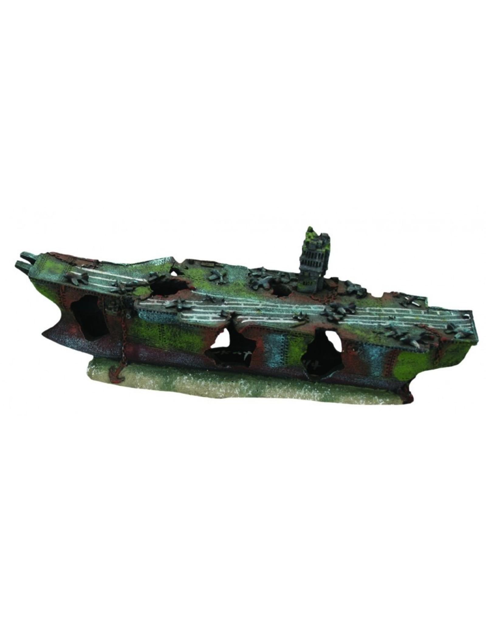 """Burgham Aqua-Fit AQUA-FIT Aircraft Carrier Shipwreck 16x5x6"""""""
