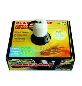 REPTI-FIT Black Dome Clamp Lamp