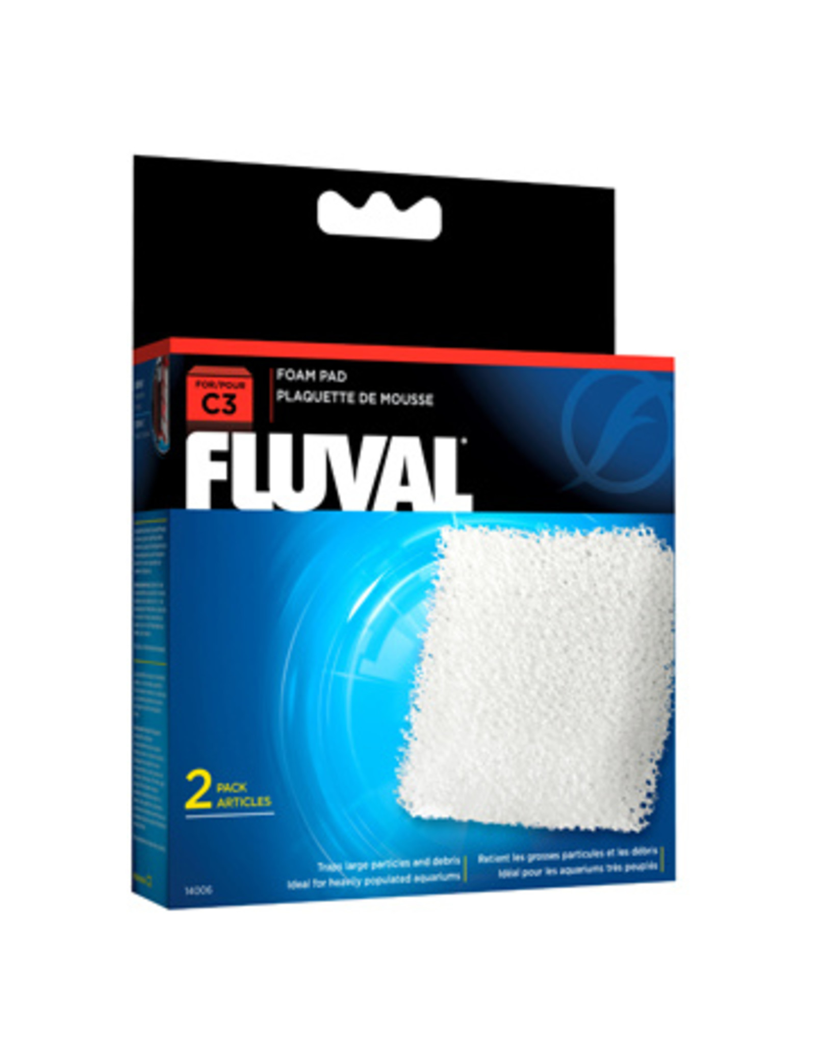 Fluval FLUVAL C Series Foam Pad Replacement 2 Pack