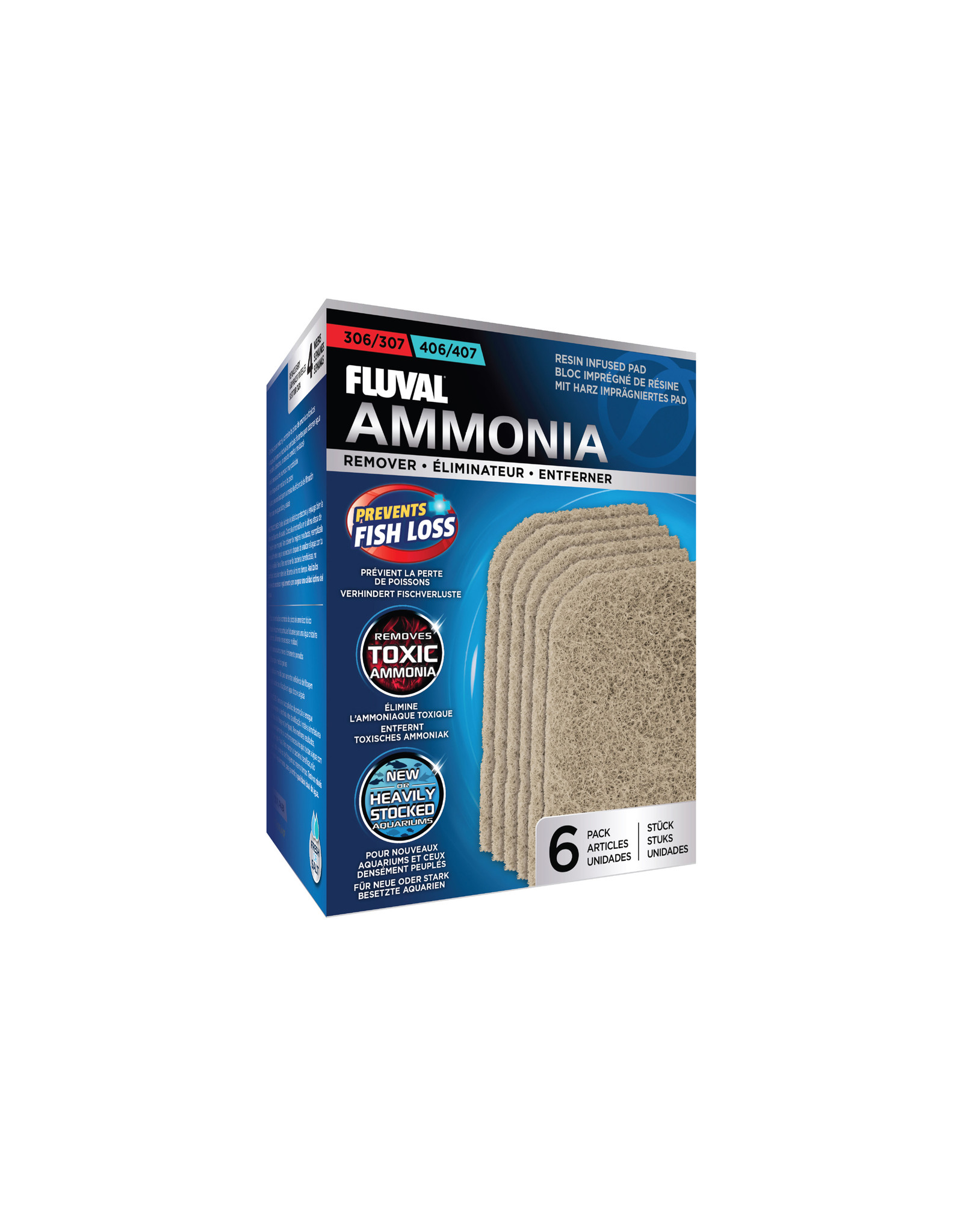 Fluval FLUVAL Replacement Filter Pad 306/307/406/407 6 Pack