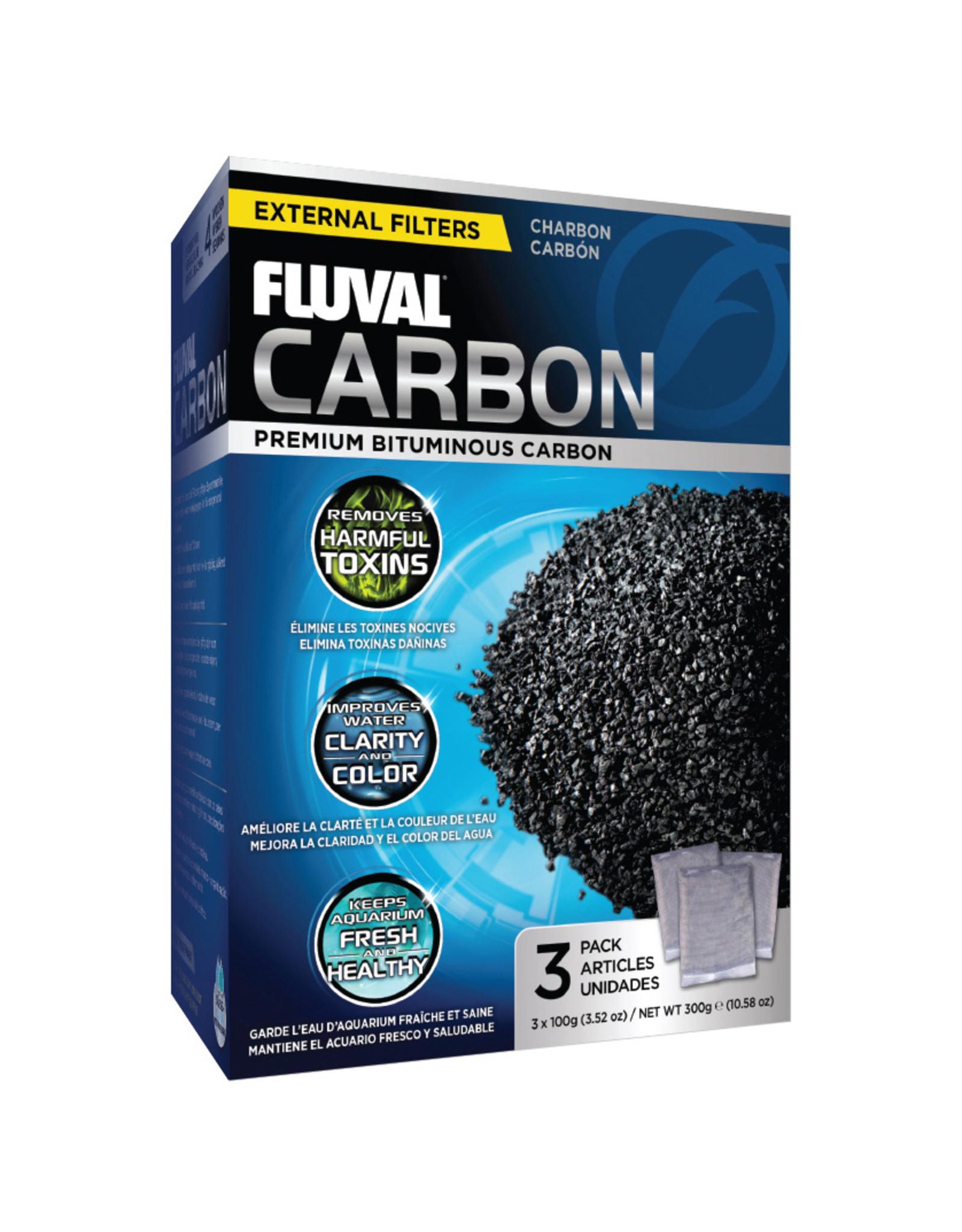 Fluval FLUVAL Carbon 3 x 100g