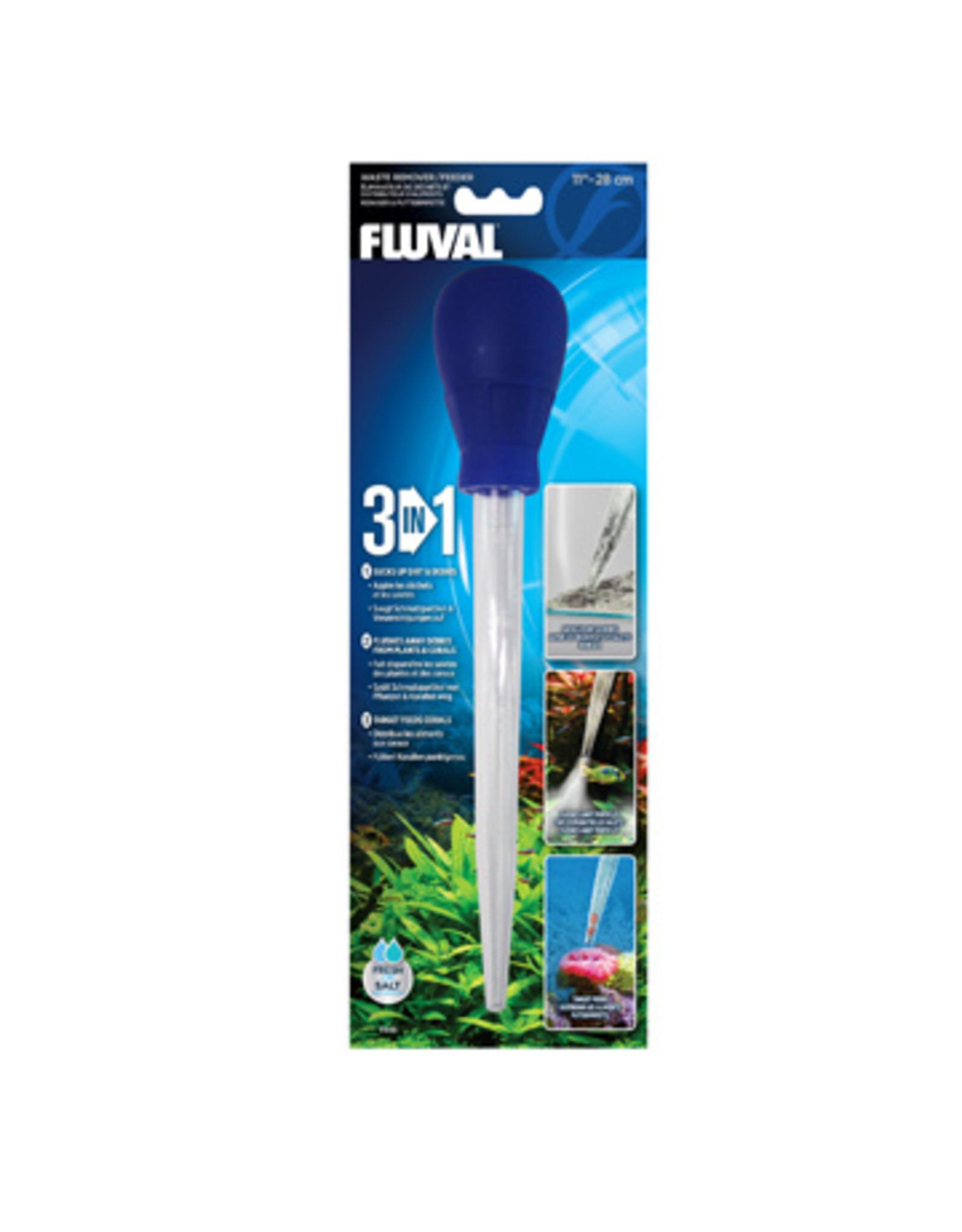 Fluval FLUVAL 3-in-1 Waste Remover/Feeder