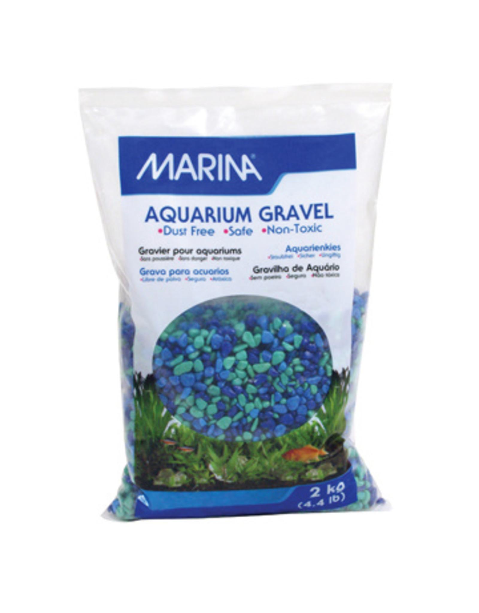 Marina MARINA Aquarium Gravel Tri-Color Blue