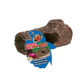 Zoo Med ZOO MED Betta Ceramic Log Small Sinking Hanger Tag
