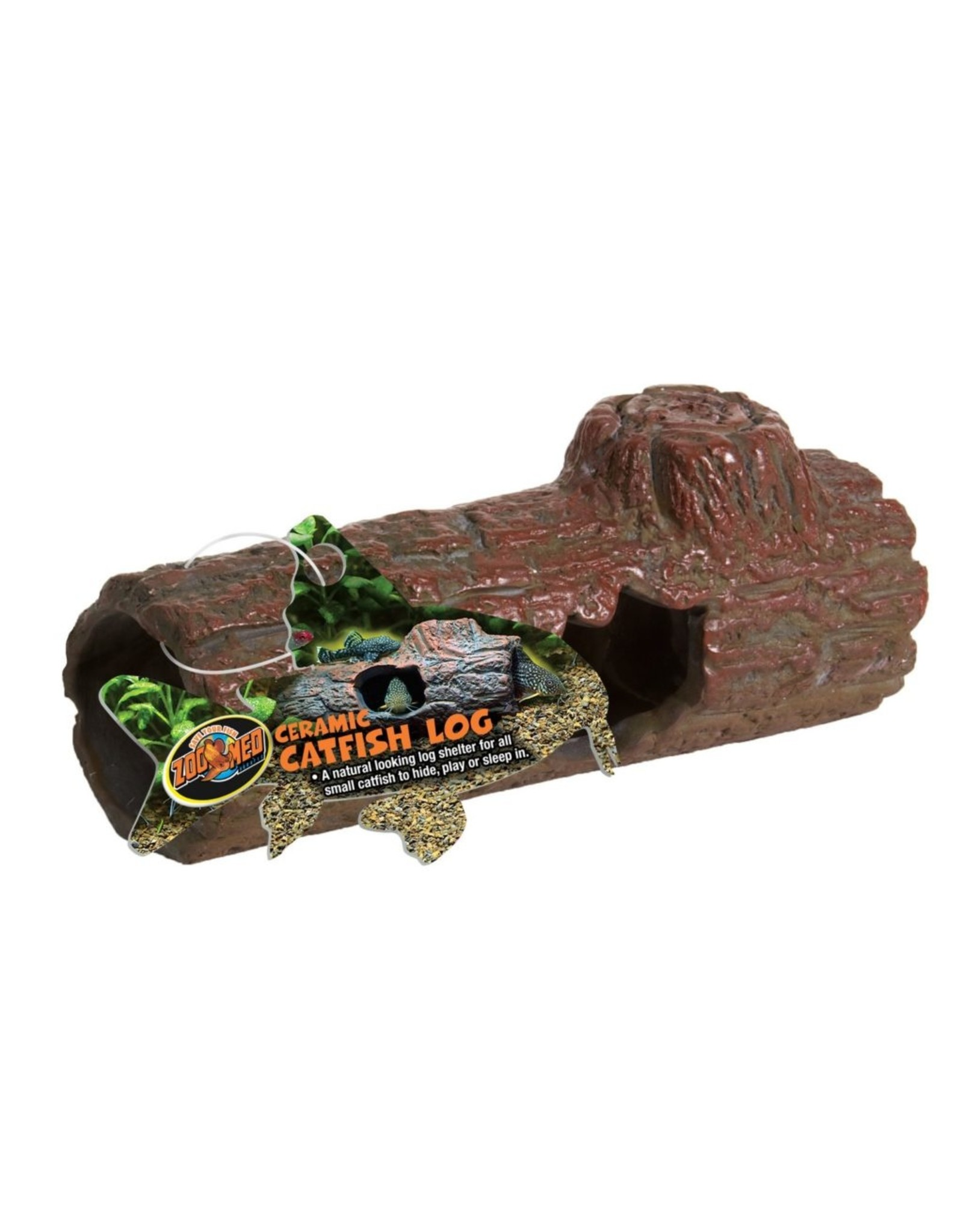 Zoo Med ZOO MED Catfish Ceramic Log Small Sinking