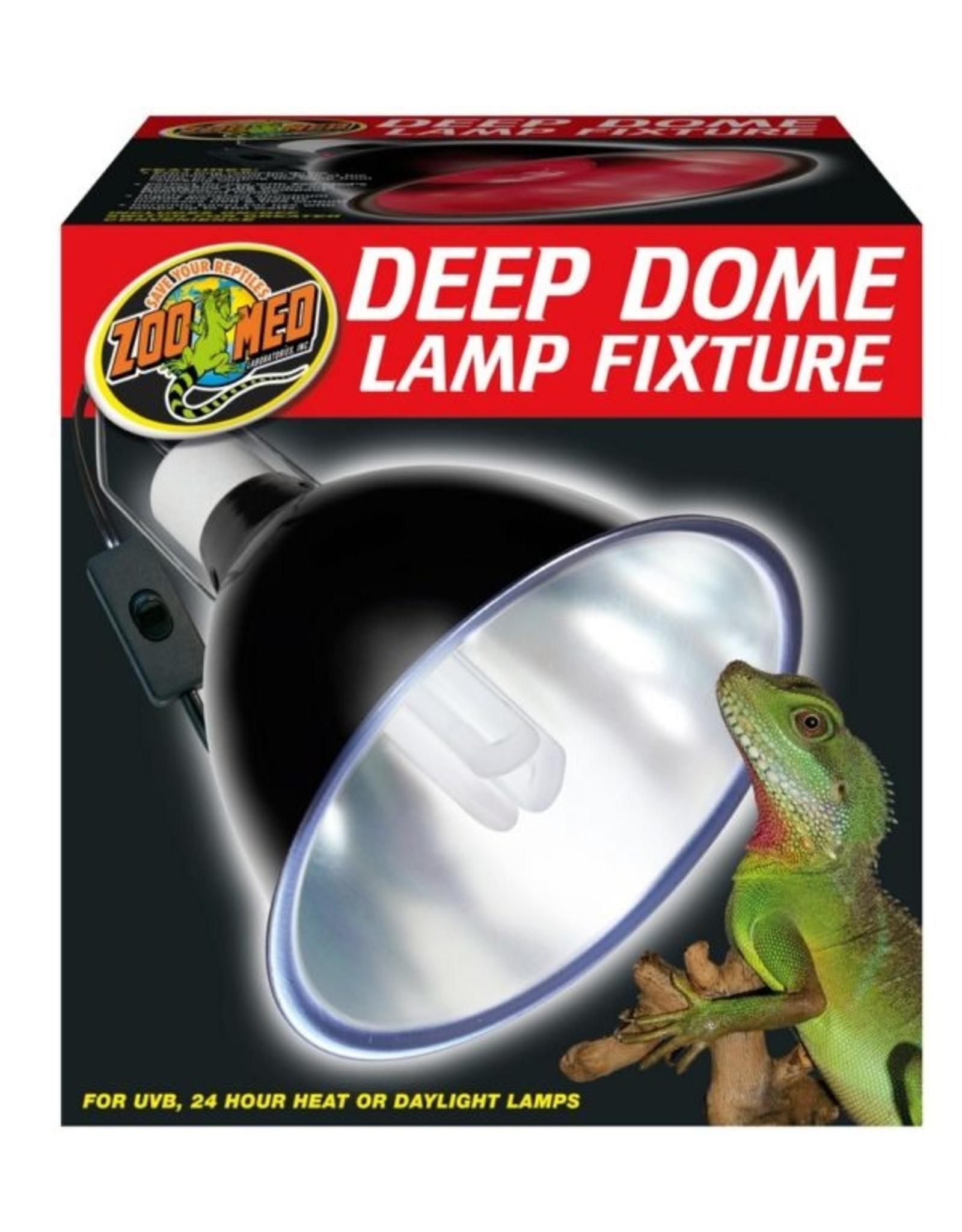 Zoo Med ZOO MED Deep Dome Lamp Fixture To 160 watt Boxed