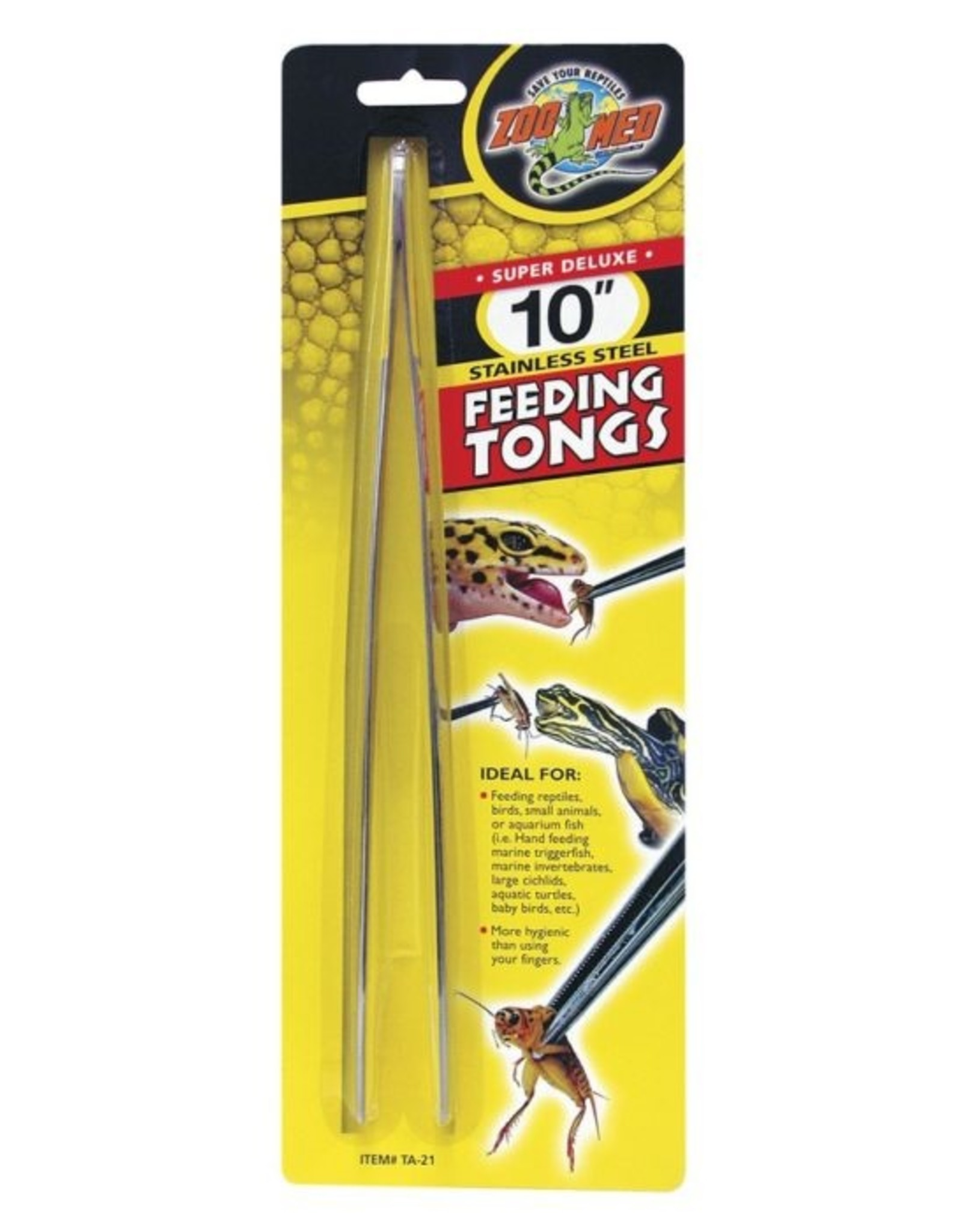 Zoo Med ZOO MED Feeding Tongs 10 inch Stainless