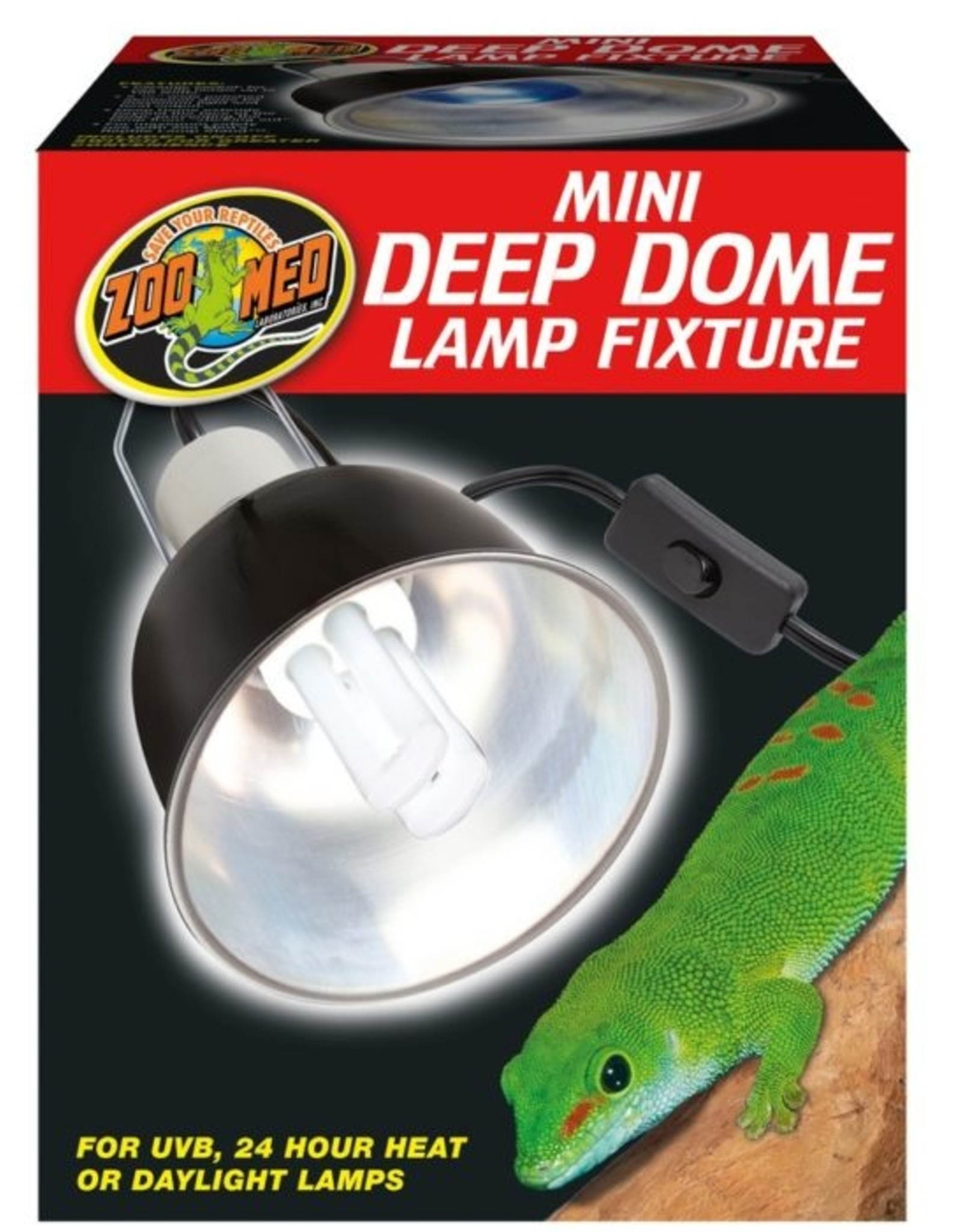 Zoo Med ZOO MED Mini Deep Dome Fixture with Switch Up to 100 watt