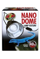 Zoo Med ZOO MED Nano Dome Lamp Fixture for 10 Gallons or Smaller Holds up to 40 Watts