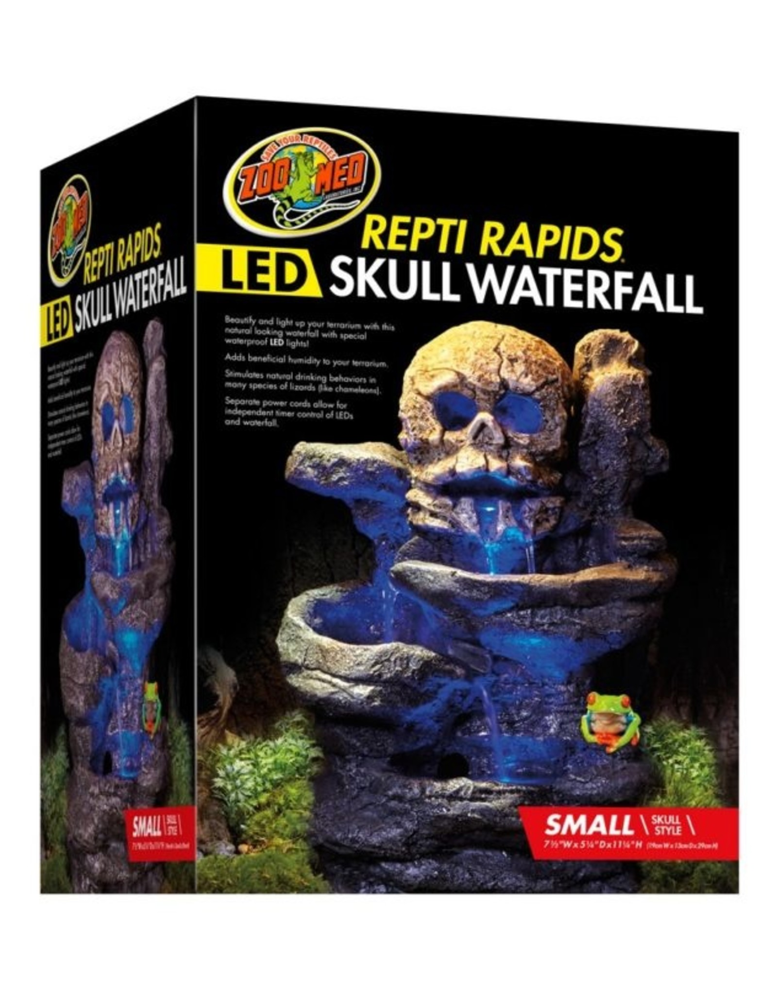 Zoo Med ZOO MED Repti Rapids LED Skull Waterfall Small