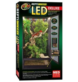 Zoo Med ZOO MED Reptibreeze  LED Deluxe Screen Cage Medium