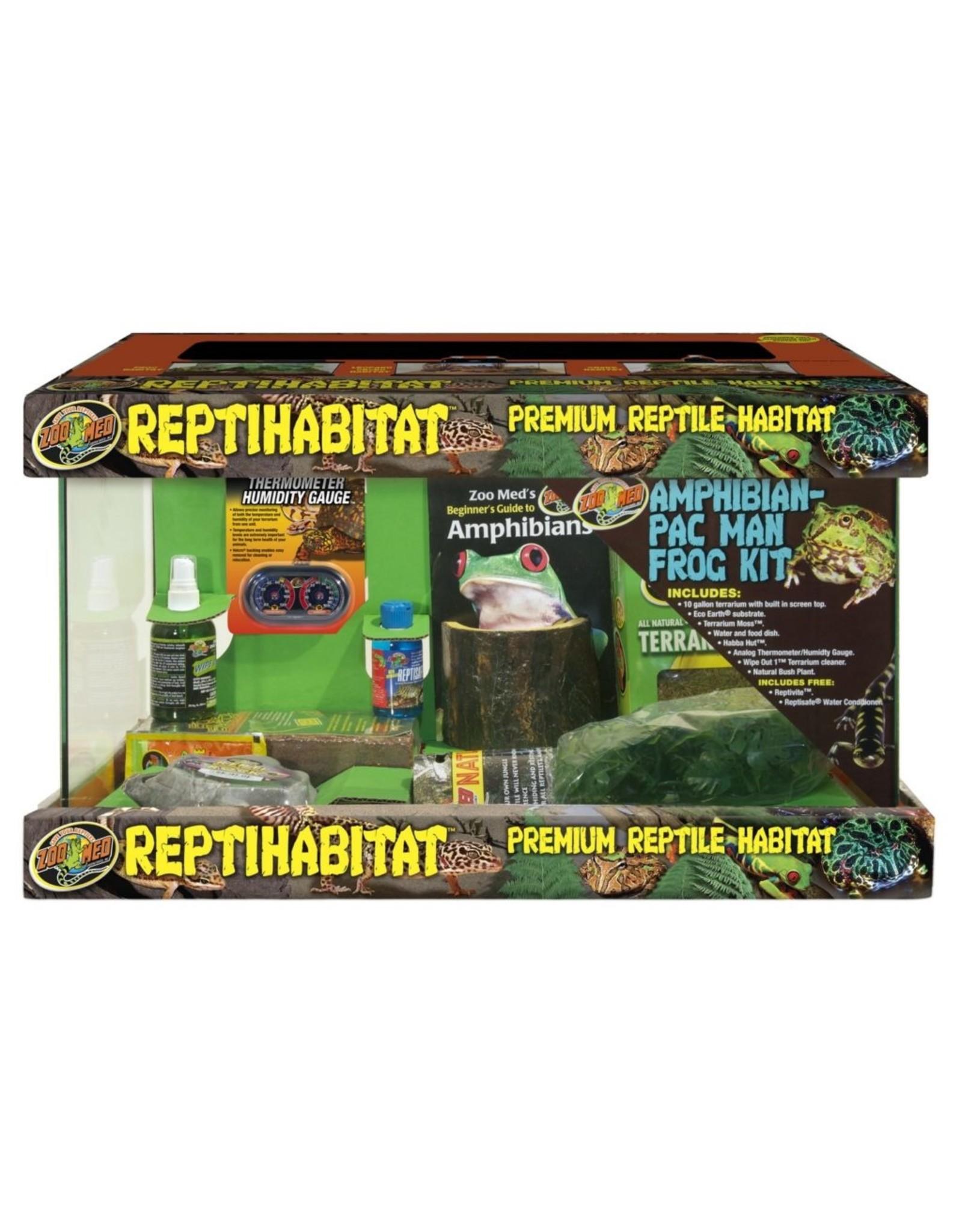 Zoo Med ZOO MED Reptihabitat 10 gallon Amphibian Pac Man Frog Kit