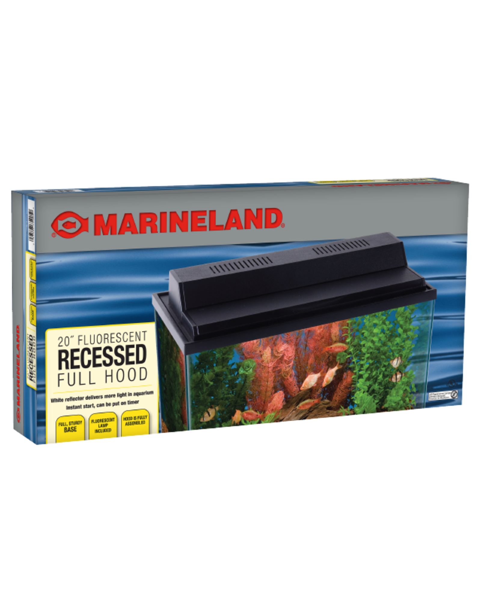 Marineland MARINELAND Recessed Full Hood Black