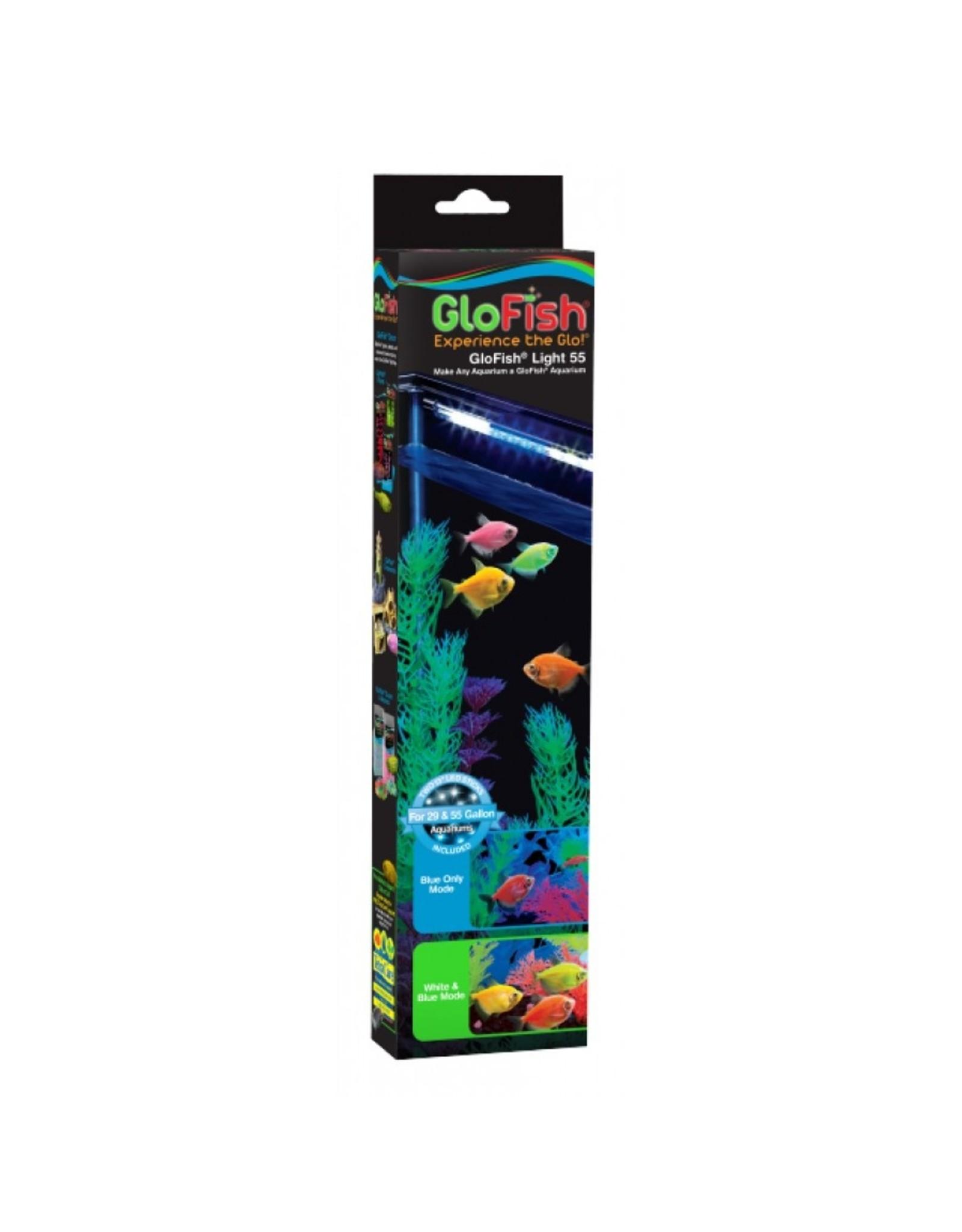 """Tetra TETRA GloFish Light white & blue LED sticks 55  Gal 2 x 13"""""""