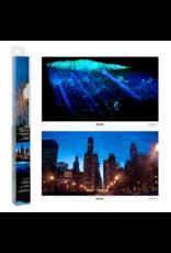 Tetra TETRA Glofish Reversible Backgrounds Cityscape/ Caves 10 Gal