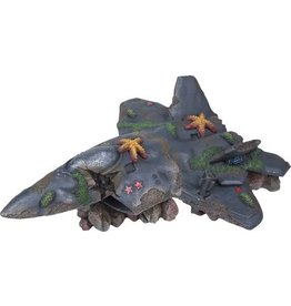 Penn Plax PENN PLAX Deco-Replica Fighter Jet Wreck Scape