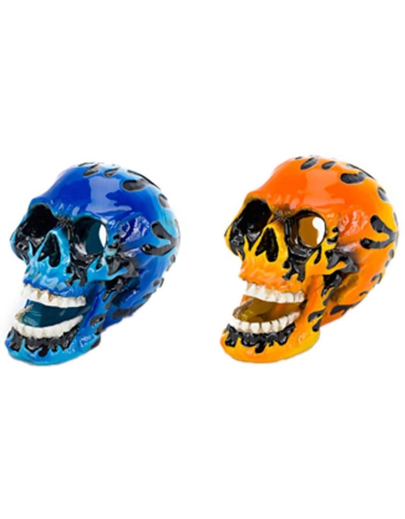 Penn Plax PENN PLAX Flaming Skull Mini