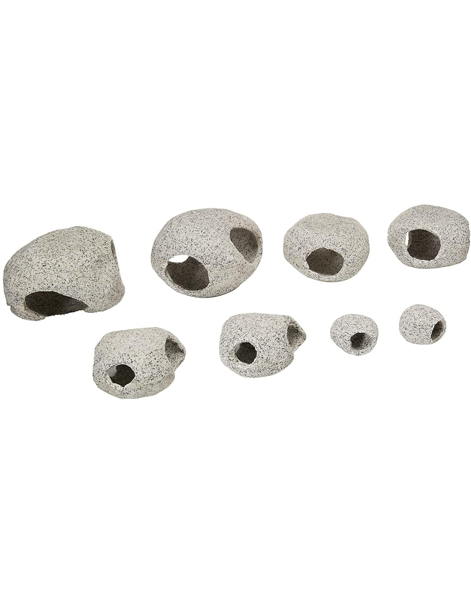 Penn Plax PENN PLAX Granite Hideaways 8 piece Assorted Prepack 4 Sizes 2 of Each