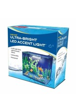 Penn Plax PENN PLAX Mini White Submersible LED Light with Suction Cups