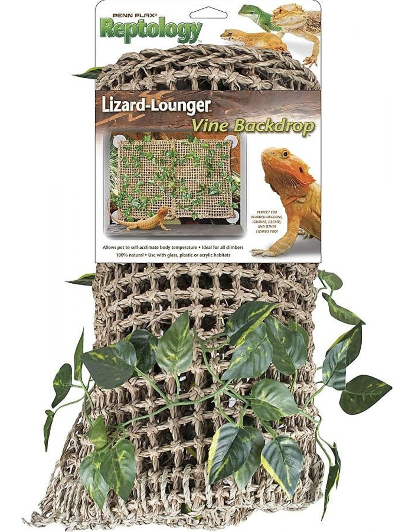 Penn Plax PENN PLAX Natural Lizard Lounger Vine Backdrop