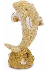 Penn Plax PENN PLAX Sand & Shell Dolphin Large Ornament
