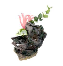 Penn Plax PENN PLAX Small Shipwreck Stern with Plants