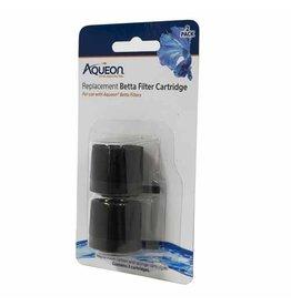 Aqueon AQUEON Betta Filter Replacement Filter Cartridge 2 Pack