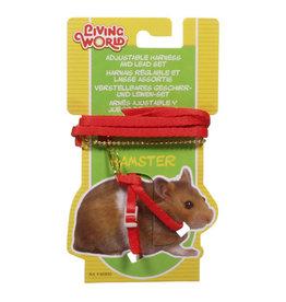 Living World LIVING WORLD Harness & Lead Set Hamster Red