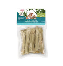 "Living World LIVING WORLD Small Animal Chews Napier Grass Sticks 4"" x 20pc"