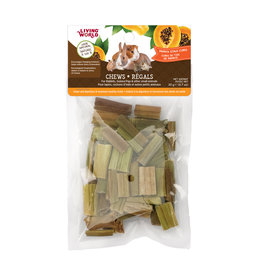 Living World LIVING WORLD Small Animal Chews Papaya Stalk Cubes 20g