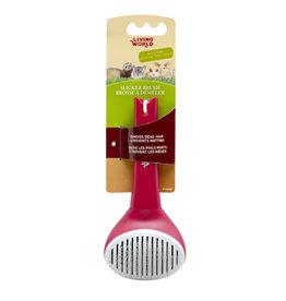 Living World LIVING WORLD Small Animal Slicker Brush, Self-Cleaning