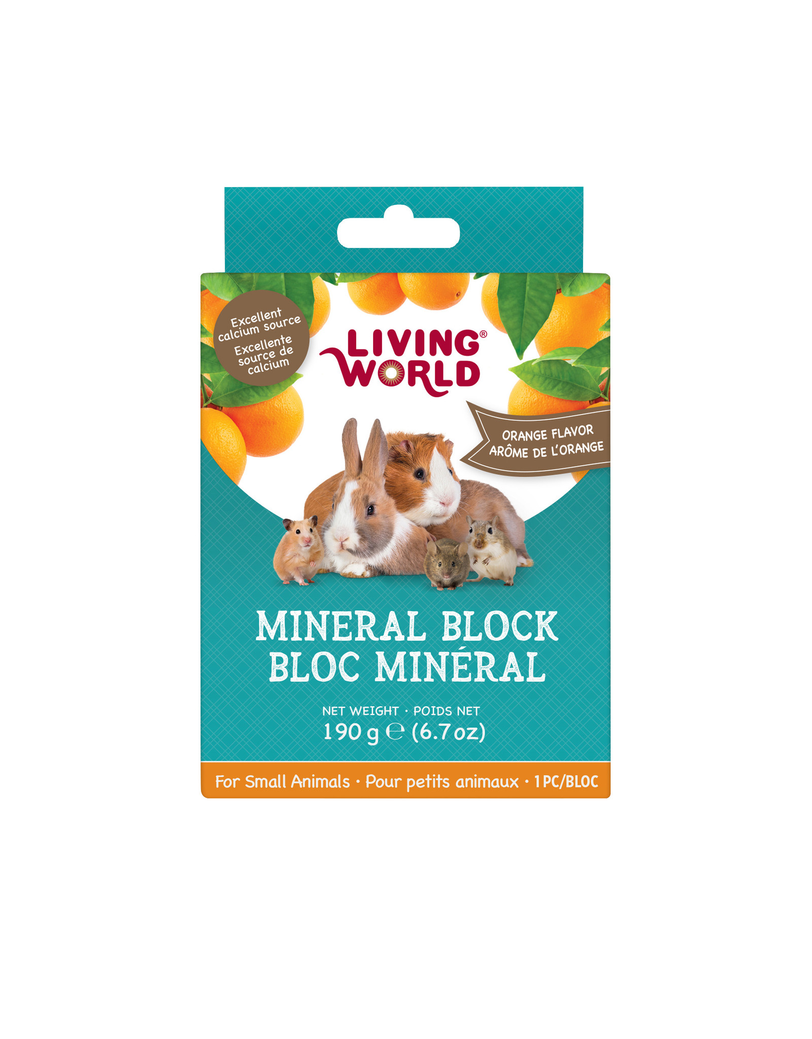 Living World LIVING WORLD Small Animal Mineral Block Orange