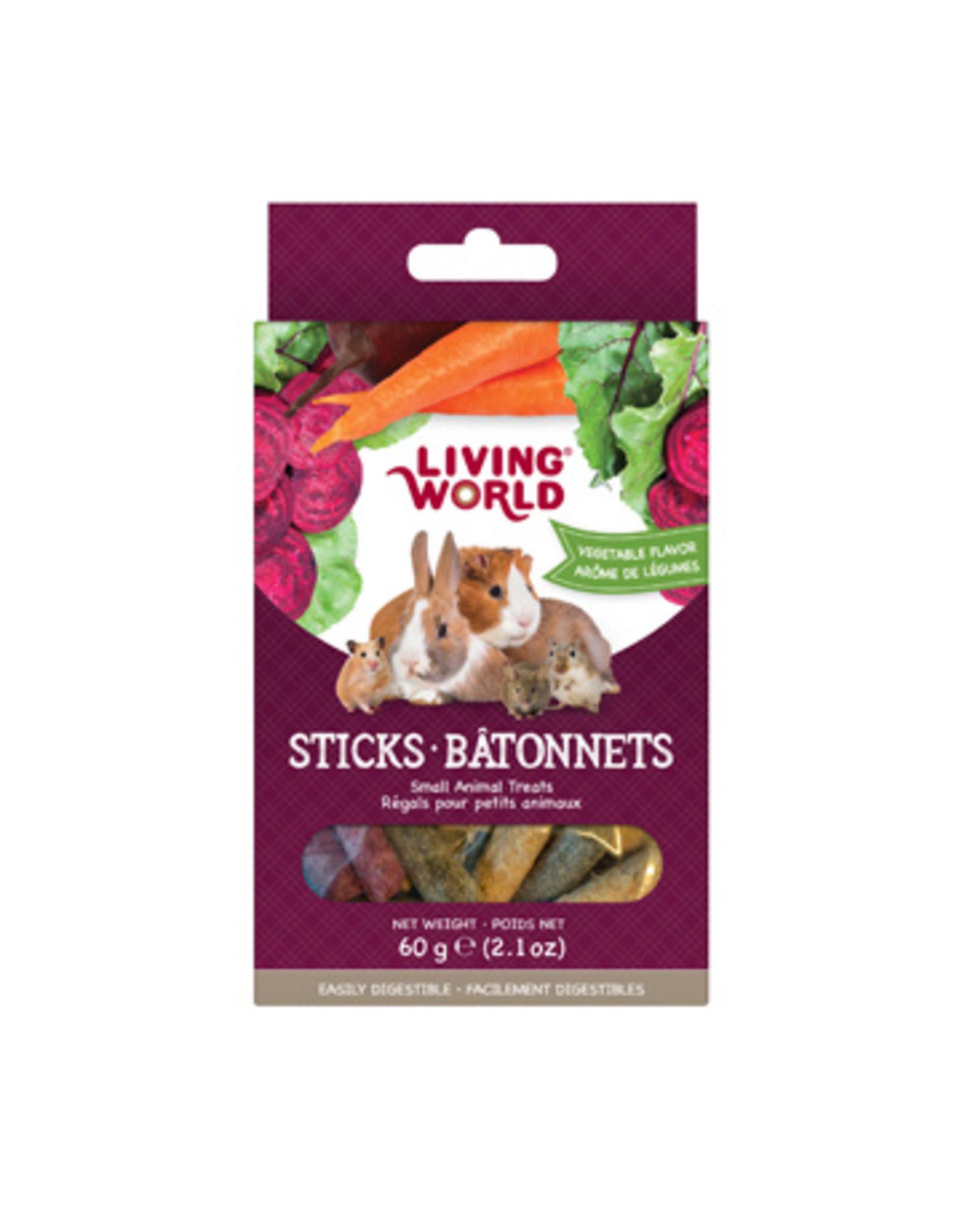 Living World LIVING WORLD Small Animal Sticks Vegetable 60g