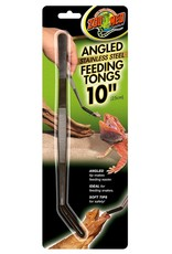 Zoo Med ZOO MED Angled Stainless Steel Feeding Tongs 10 inch with Soft Tips