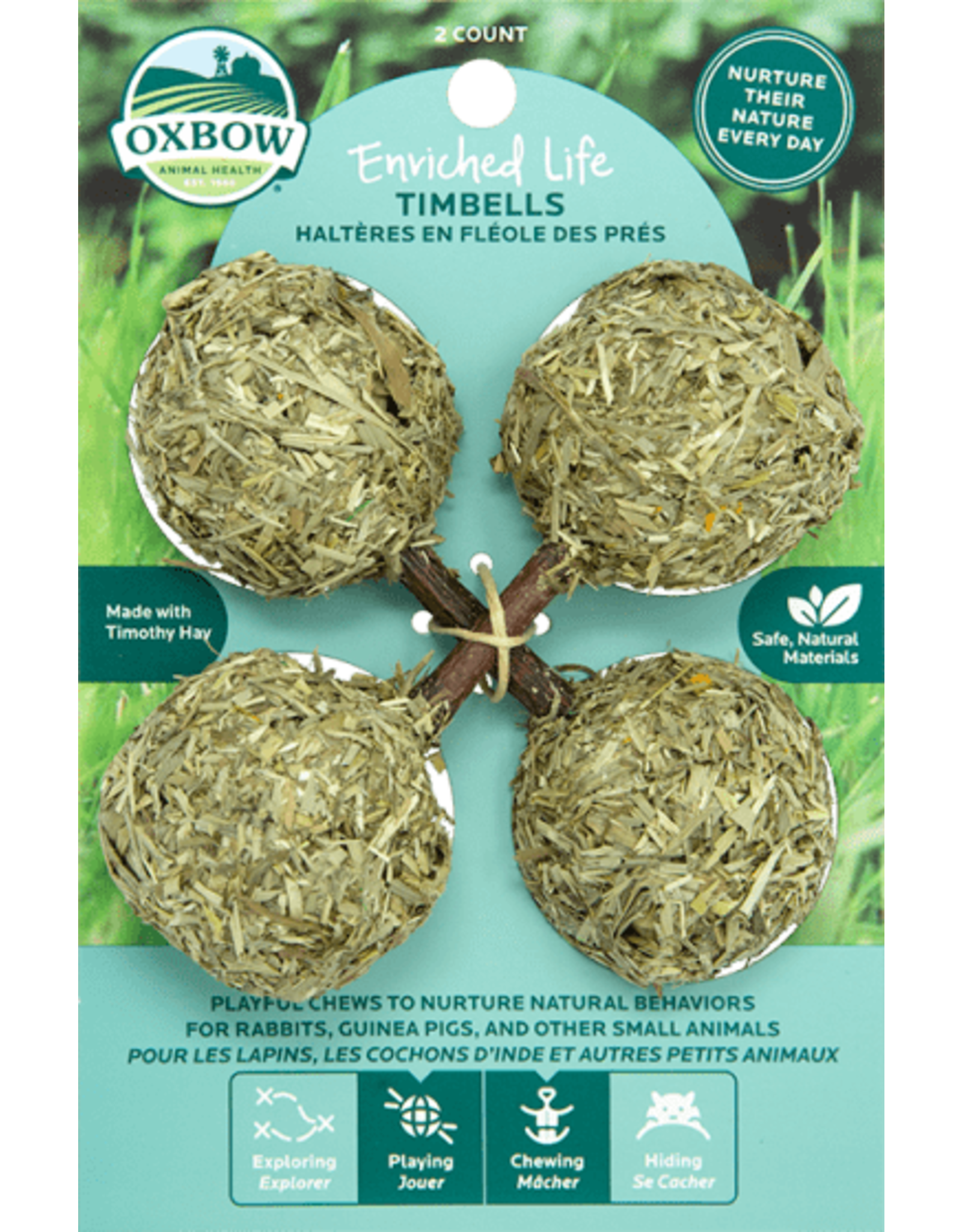 Oxbow OXBOW Enriched Life Hay Timbells 2 Pack Natural Chews