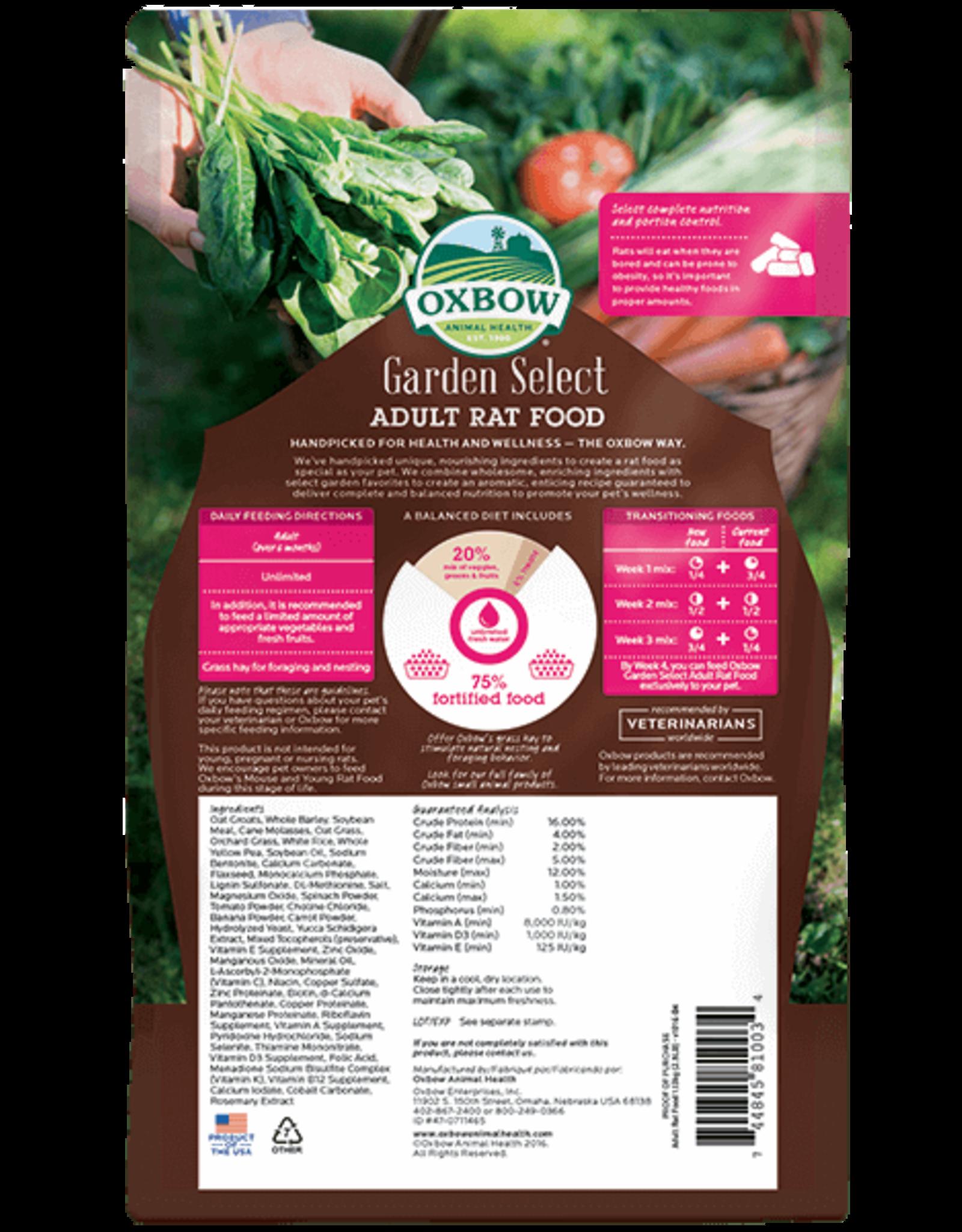 Oxbow OXBOW Garden Select Adult Rat Food 2.5 pound Bag