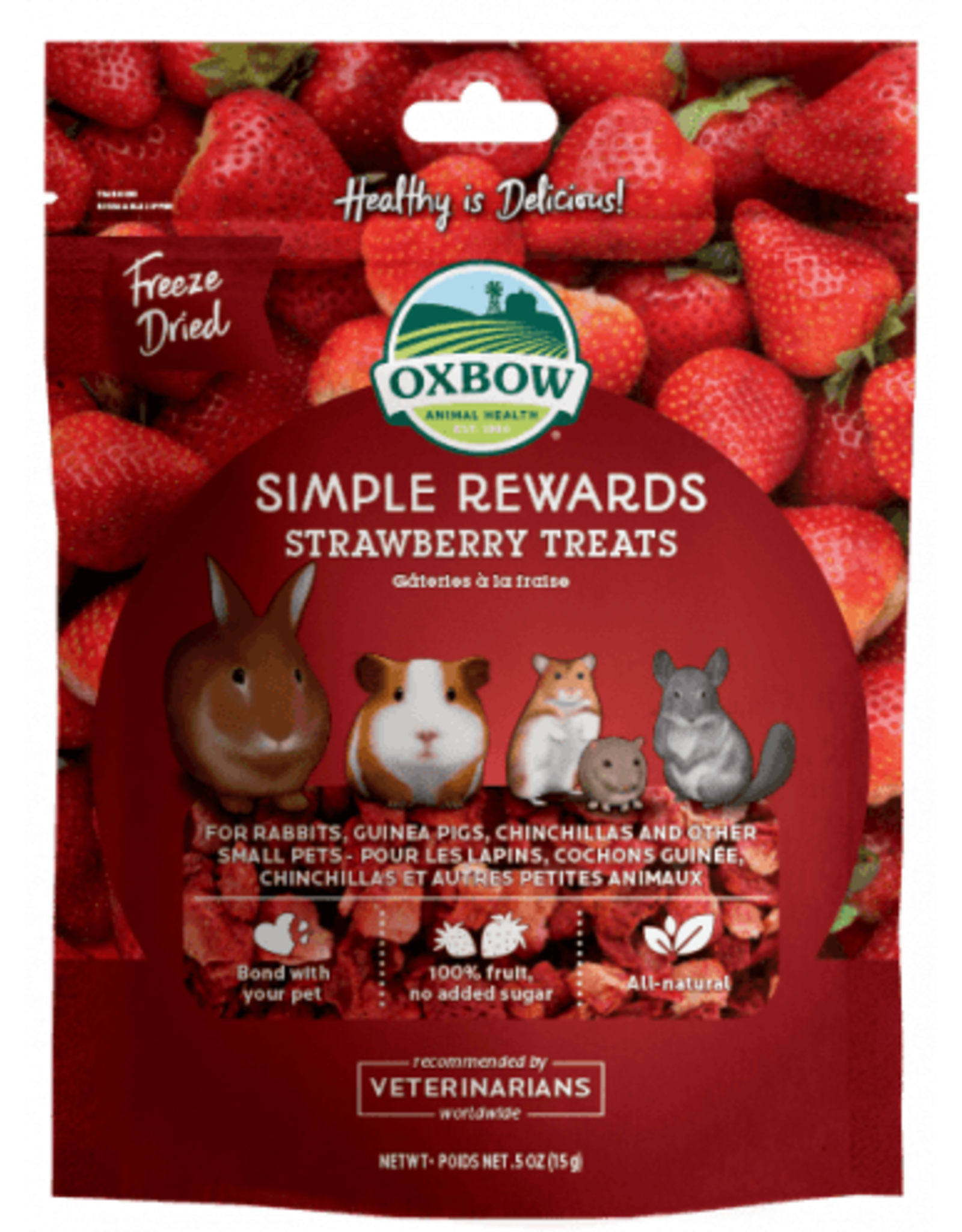 Oxbow OXBOW Simple Rewards Strawberry Treats .5oz
