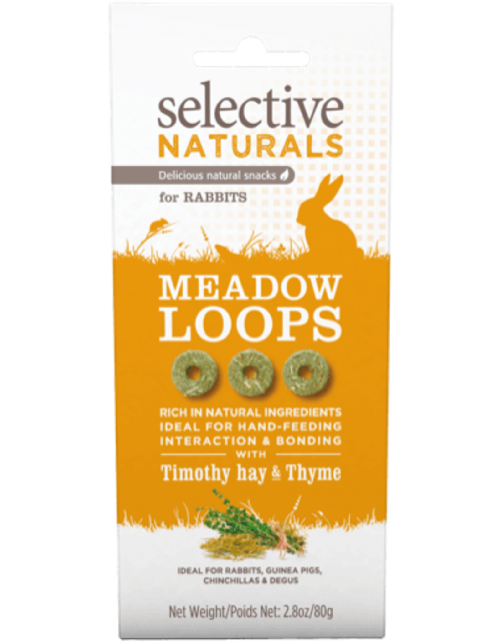 Supreme Pet Foods SELECTIVE NATURALS Meadow Loops Rabbit Treats Timothy Hay & Thyme