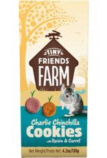Supreme Pet Foods TINY FRIENDS FARM Charlie Chinchilla Cookie 120gs with Raisin & Carrot