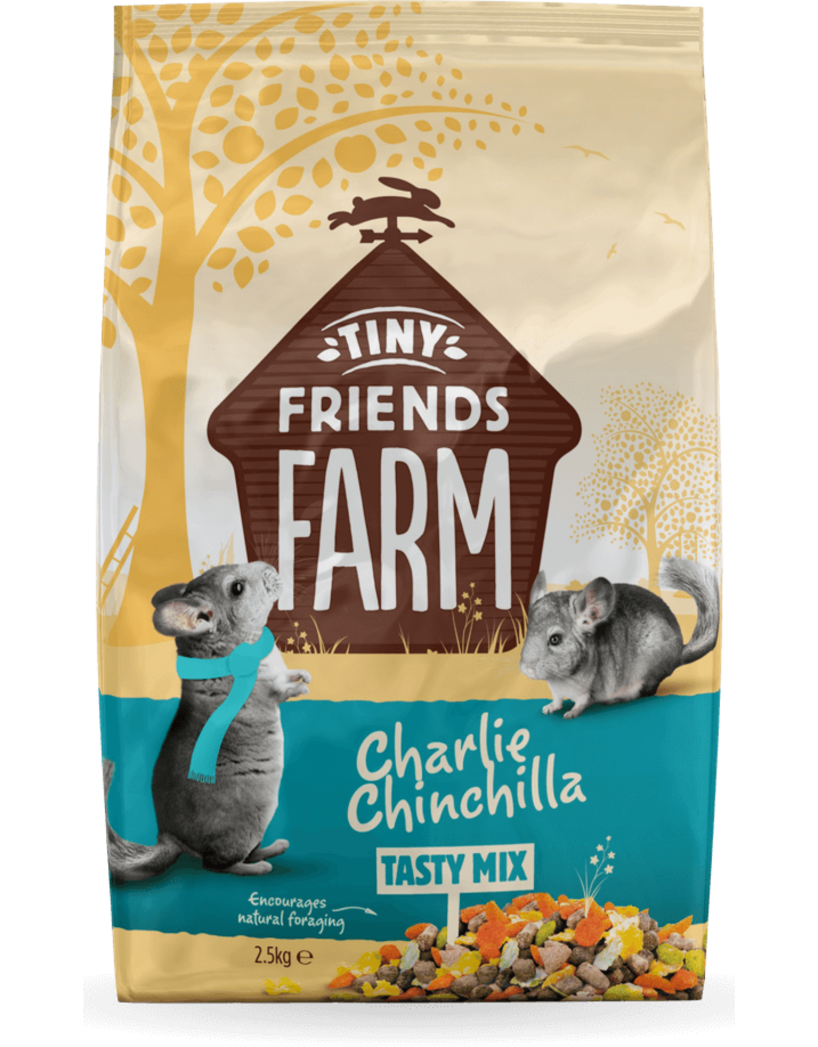 Supreme Pet Foods TINY FRIENDS FARM Charlie Chinchilla Tasty Mix 907g