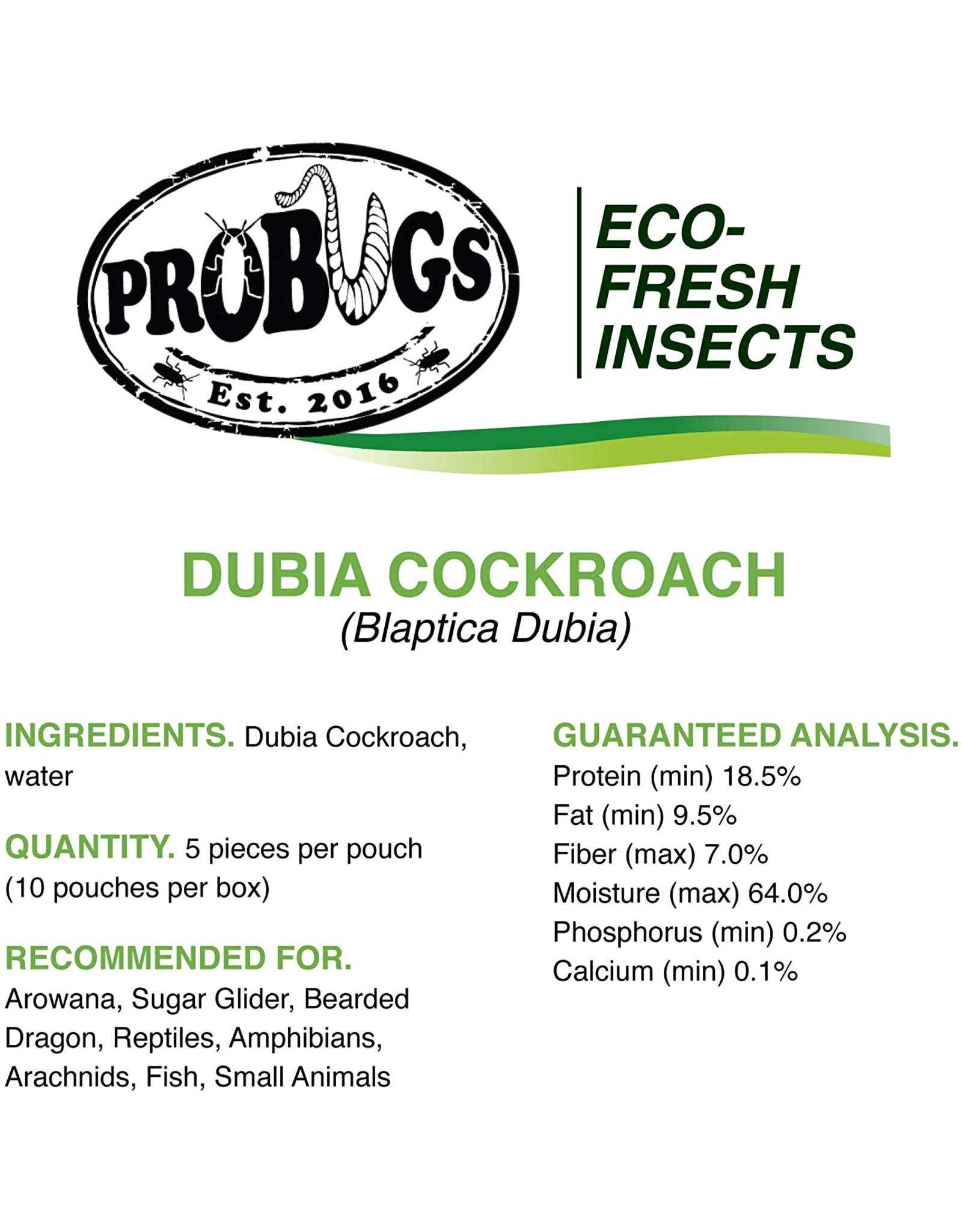 Pro Bugs PRO BUGS Dubia Cockroach